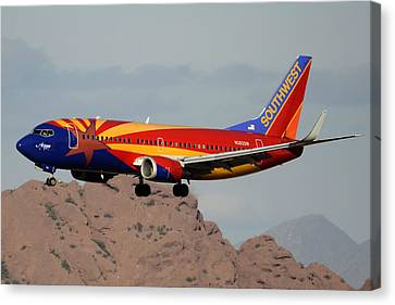 Southwest Boeing 737-3h4 N383sw Arizona Phoenix Sky Harbor December 20 2015  Canvas Print by Brian Lockett