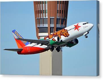 Southwest Boeing 737-3h4 N609sw California One Phoenix Sky Harbor January 21 2016 Canvas Print by Brian Lockett