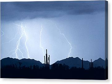 Southwest Desert Lightning Blues Canvas Print by James BO  Insogna
