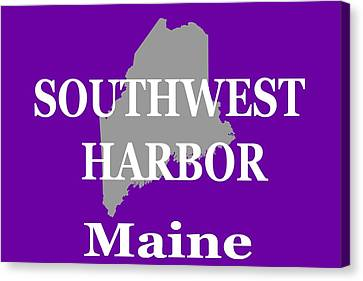 Canvas Print featuring the photograph Southwest Harbor Maine State City And Town Pride  by Keith Webber Jr