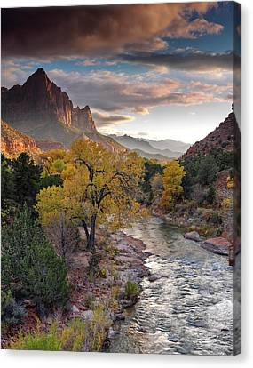 Southwest Light Along The Virgin River Canvas Print