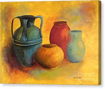 Southwest Pottery Canvas Print by Anita Carden