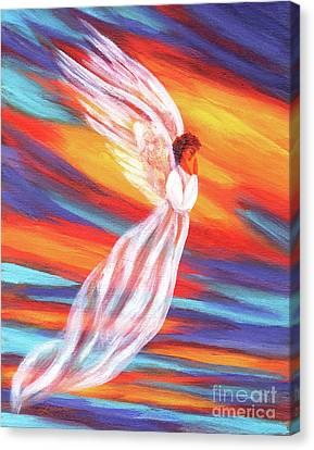 Southwest Sunset Angel Canvas Print by Laura Iverson