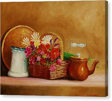 Canvas Print featuring the painting Southwest Table by Gene Gregory