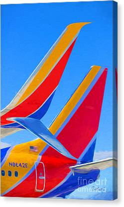 Southwest Tails Canvas Print by Garland Johnson