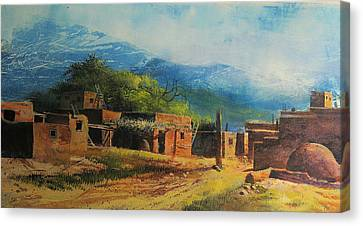 Southwest Village Canvas Print by Robert Carver