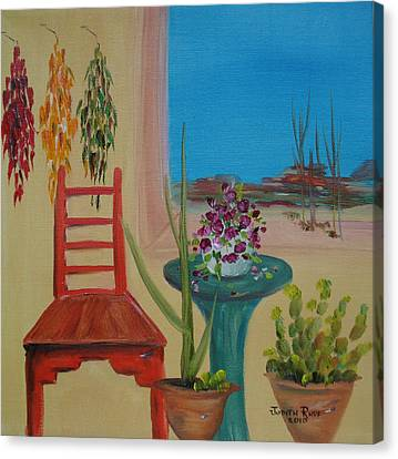 Canvas Print featuring the painting Southwestern 6 by Judith Rhue