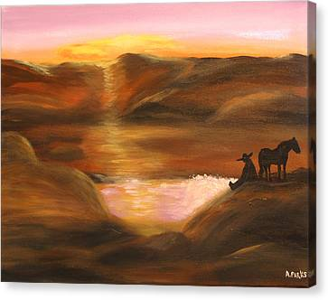 Southwestern Desert Sunset Canvas Print