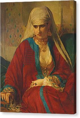 Souvenir D'orient, 1870 Canvas Print by Jean Francois Portaels