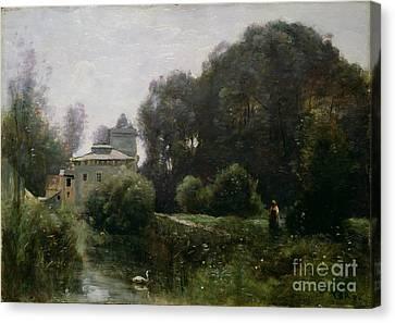 Souvenir Of The Villa Borghese Canvas Print