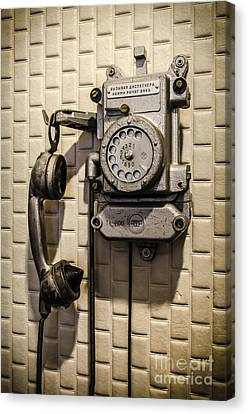Soviet Telephone In The Former Kgb Headquarters Canvas Print by RicardMN Photography