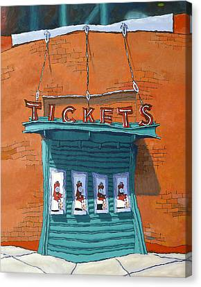 Sox Tickets Canvas Print by Mike Gruber