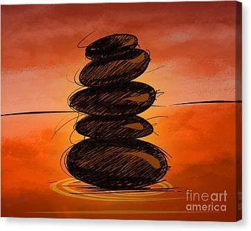 Spa Stones Canvas Print by Bedros Awak