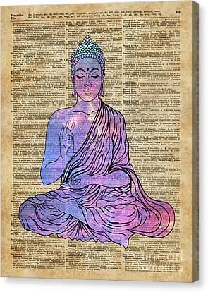 Space Buddha Dictionary Art Canvas Print by Joanna and Jacob Kuch