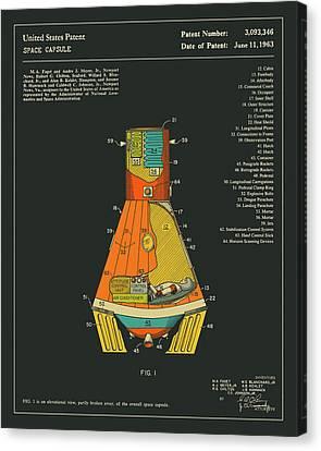 Space Capsule Patent 1963 Canvas Print