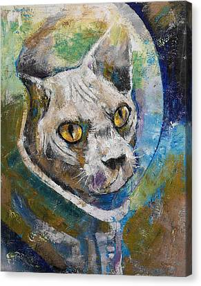 Space Cat Canvas Print by Michael Creese