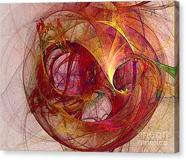Cheerful Canvas Print - Space Demand Abstract Art by Karin Kuhlmann