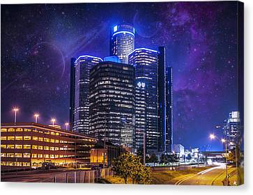 Canvas Print featuring the photograph Space Detroit by Nicholas  Grunas