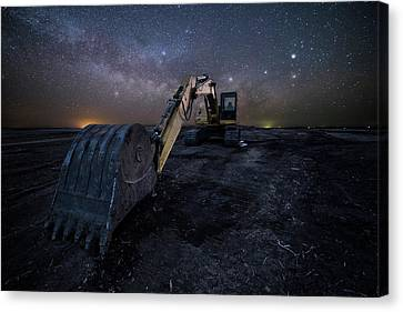 Canvas Print featuring the photograph Space Excavator  by Aaron J Groen