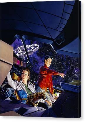 Space Explorers Canvas Print by Richard Hescox