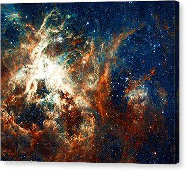 The Hubble Telescope Canvas Print - Space Fire by Jennifer Rondinelli Reilly - Fine Art Photography