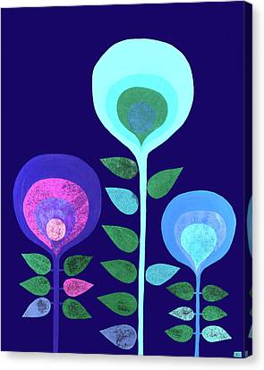 Space Flowers Canvas Print