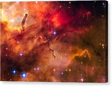 Space Image Cosmic Landscape Westerlund 2 Canvas Print by Matthias Hauser
