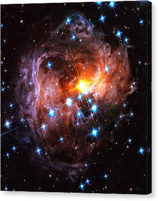 Space Image Light Echo Star V838 Monocerotis Canvas Print by Matthias Hauser