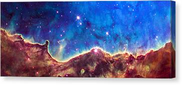 Space Image Nebula Panorama Canvas Print by Matthias Hauser