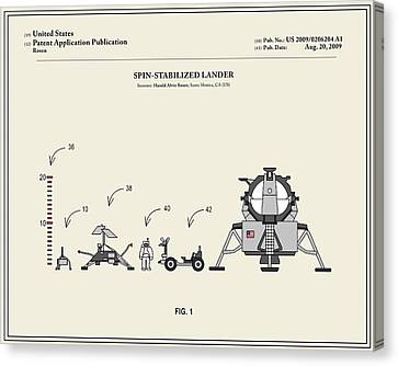 Space Lander Patent Canvas Print by Finlay McNevin