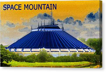 Roller Coaster Canvas Print - Space Mountain by David Lee Thompson