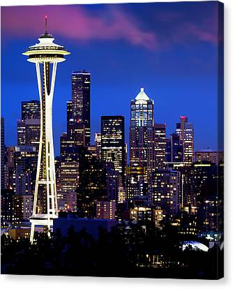 Space Needle At Night  Canvas Print