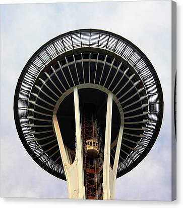 Space Needle- By Linda Woods Canvas Print