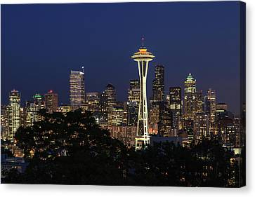 Canvas Print featuring the photograph Space Needle by David Chandler