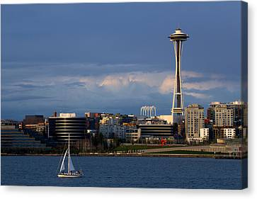 Canvas Print featuring the photograph Space Needle by Evgeny Vasenev
