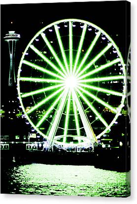 Space Needle Ferris Wheel Canvas Print