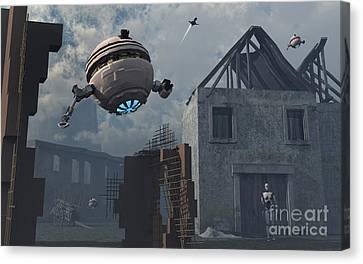 Space Probes And Androids Survey An Canvas Print by Mark Stevenson