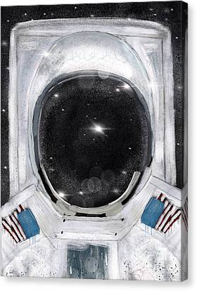 Canvas Print featuring the painting Space Selfie by Bri B