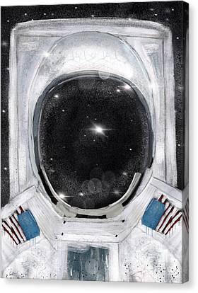 Space Selfie Canvas Print