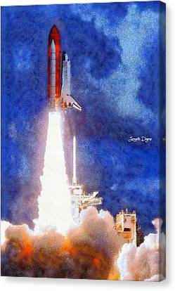 Space Shuttle - Da Canvas Print by Leonardo Digenio