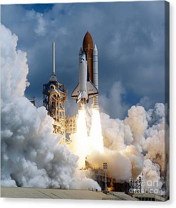 Space Shuttle Launching Canvas Print by Stocktrek Images