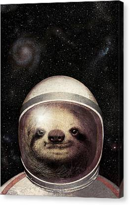 Space Sloth Canvas Print by Eric Fan