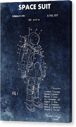 The Universe Canvas Print - Space Suit Patent Illustration by Dan Sproul