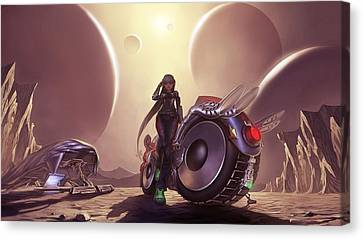 Canvas Print featuring the photograph Space The Final Frontier by Lawrence Christopher