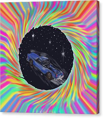 Space Truck'n Canvas Print by Kevin Caudill