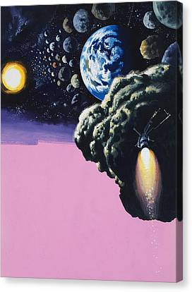 Space Canvas Print by Wilf Hardy