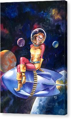 Spacegirl Canvas Print by Ken Meyer jr