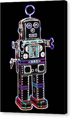 Spaceman Robot Canvas Print by DB Artist