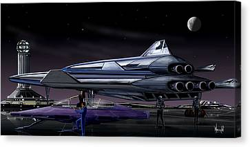 Spaceport Earth Canvas Print by Bill Wright