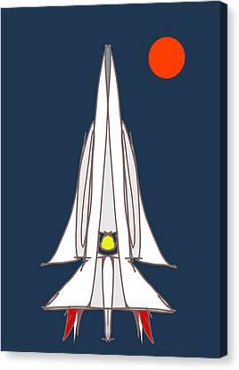 Spaceship Canvas Print by Denny Casto